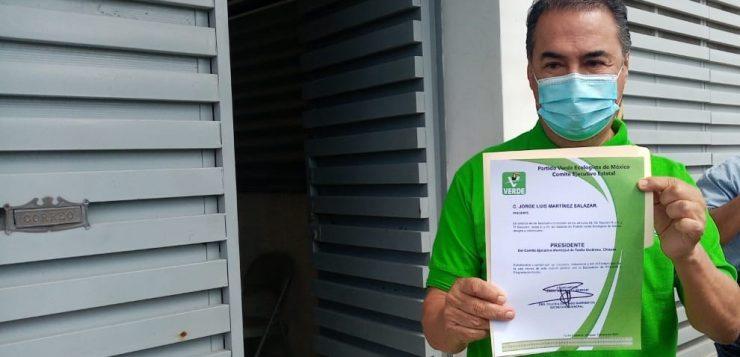 """Otro """"jalón de orejas"""" para un candidato en Tuxtla; ahora, para Jorge Martínez, del Verde"""