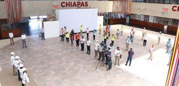 Desde Palacio estatal, Rutilio Escandón encabeza simulacro nacional con hipótesis de sismo