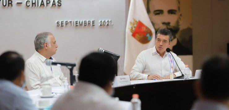 Rutilio Escandón y Miguel Torruco anuncian Programas Turísticos en Chiapas