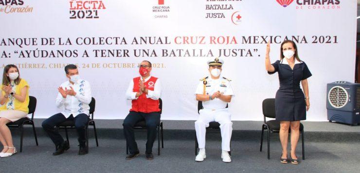Invita Gobernador de Chiapas a participar en Colecta Anual Cruz Roja Mexicana 2021